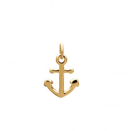 Collier petite ancre marine Plaqué OR 750 3 microns