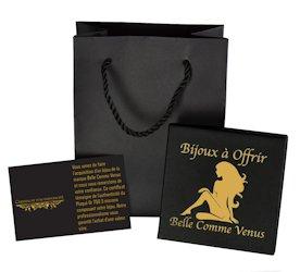 Pochette cadeau écrin et certificat pour femme Belle Comme Venus